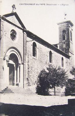 L'église de Châteauneuf-du-Pape